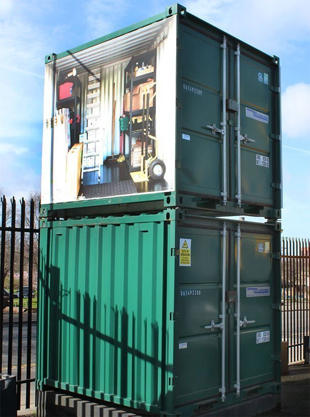 Urban Space Storage Liverpool: a range of shipping containers